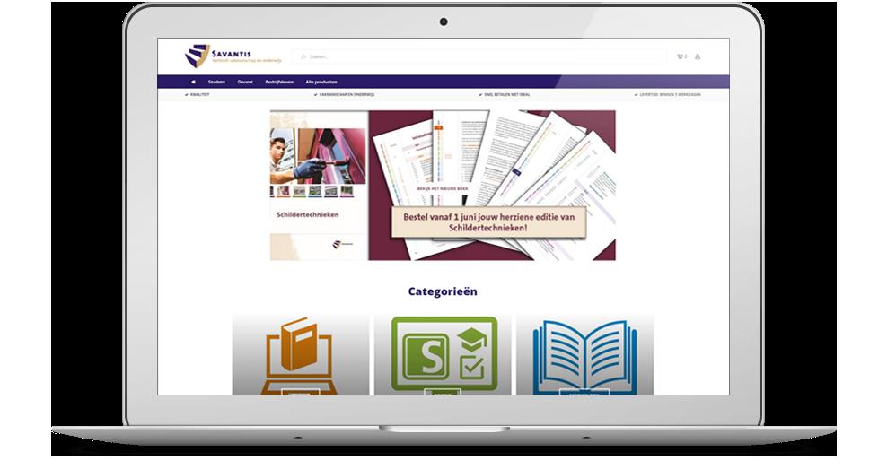 Vernieuwde webshop Savantis online